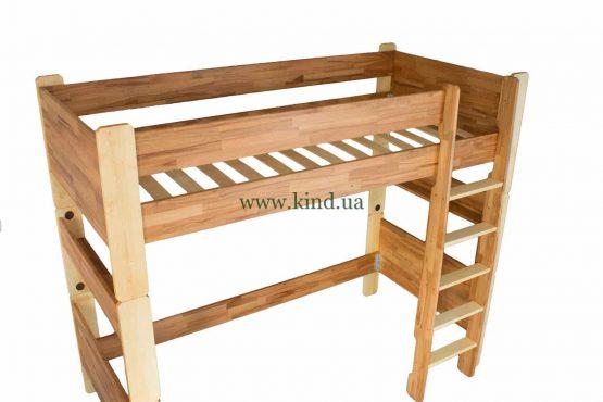 Кровать чердак из дерева бука и берёзы