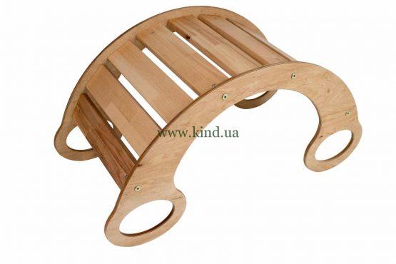 горка качалка деревянная