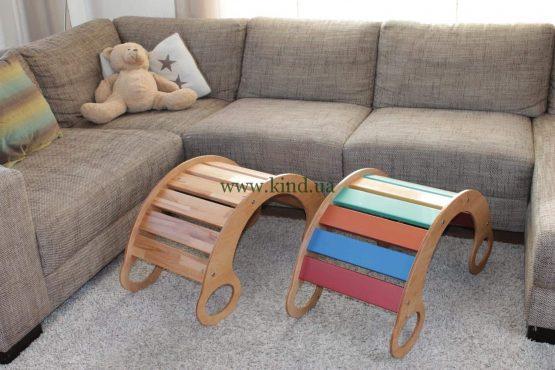 Горка качалка в детской комнате цветная или натуральная