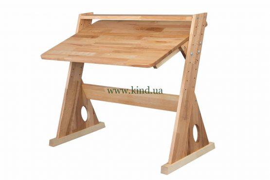 Регулируемая парта из дерева с надстройкой