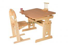 Набор мебели для школьника - регулируемый из дерева
