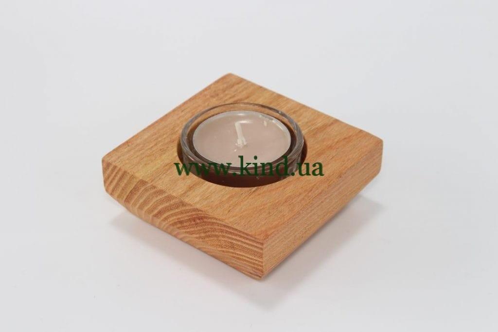 Чайный подсвечник из дерева розовой акации