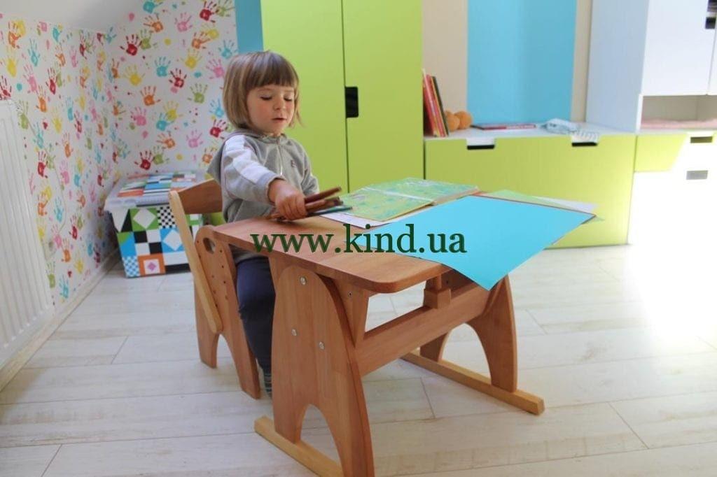Детская деревянная парта