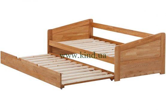 Детская кровать раздвижная из натурального дерева