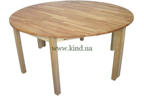 Полукруглый столик из натурального дерева
