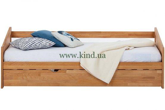 Деревяная детская раздвижная кровать