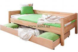 Кровать подростковая из натурального дерева