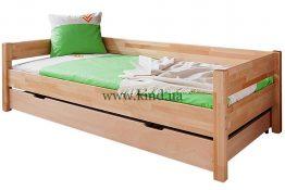 Деревяная кровать с ящиком