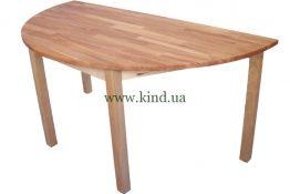 Деревяный полукруглый столик