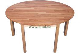 Пристенный столик из натурального дерева