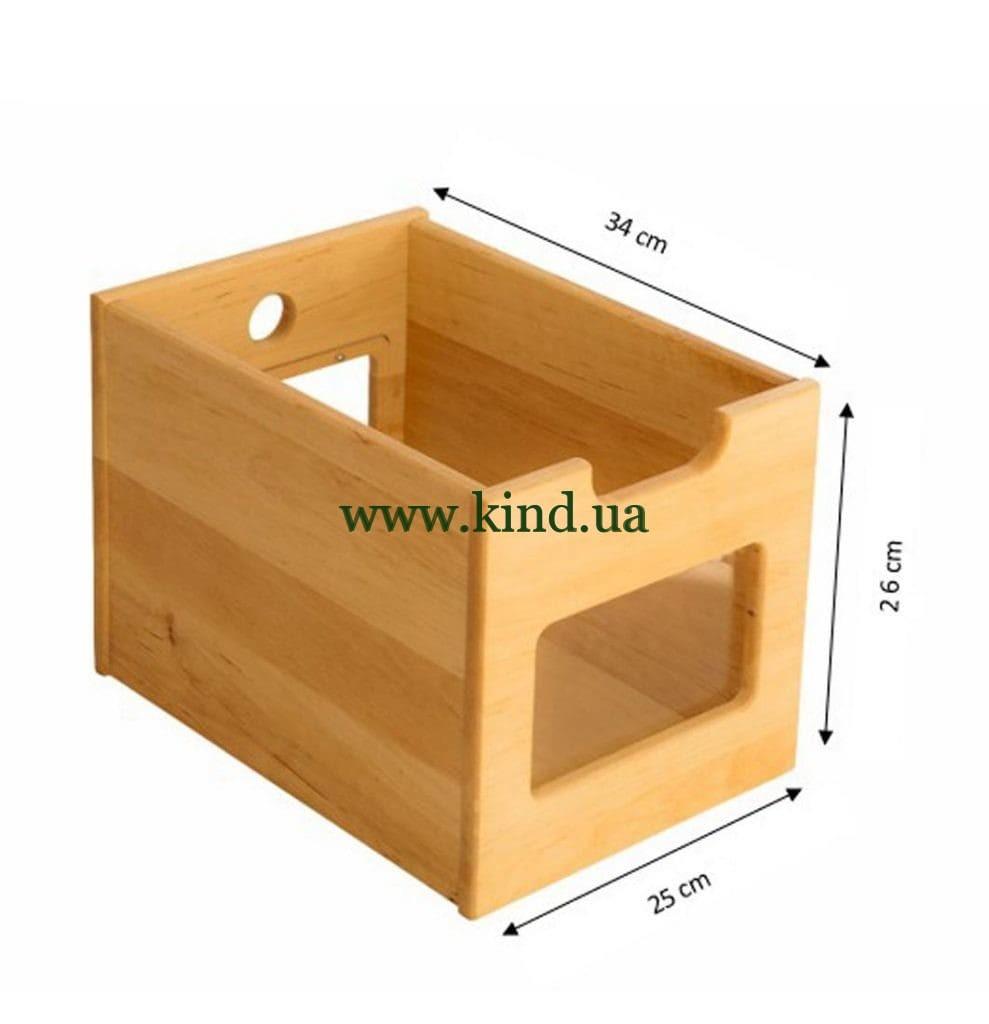 Глубокий деревянный ящик для органайзера