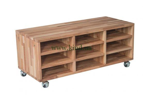 Деревянный органайзер на колёсиках