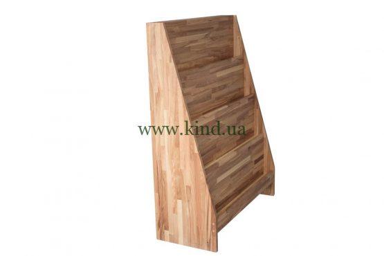 деревянная витрина для книжек и тетрадей
