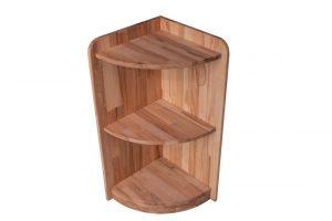 Угловая деревянная полочка