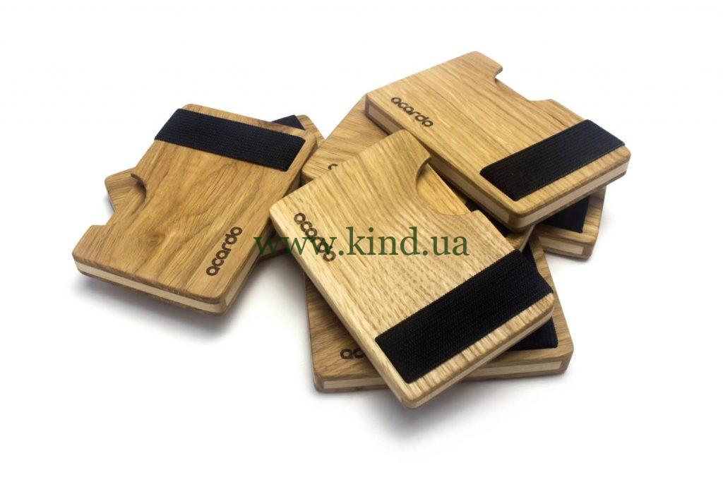 деревянный кейс для визиток